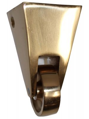 Brass Castor Square Cup - 38mm